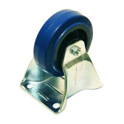 Bockrolle - 100mm - blau Blue Wheel - Heavy Duty